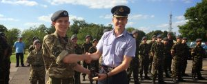 Presentation to Station Commander